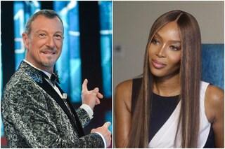 """Sanremo 2021, Amadeus: """"Naomi Campbell aprirà il Festival"""""""