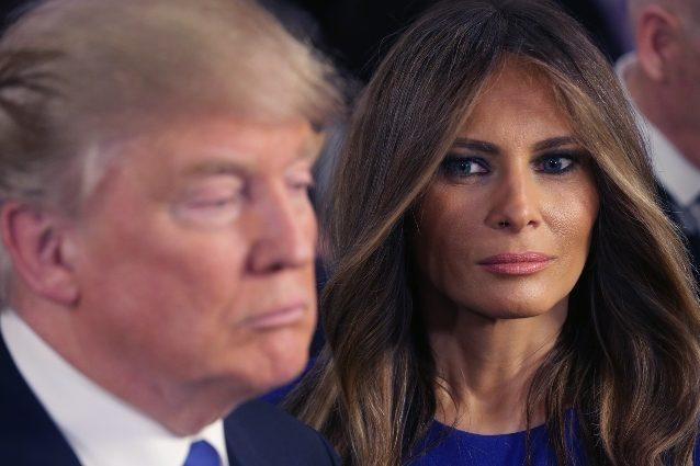 Melania Trump, moglie dell'ex presidente degli Stati Uniti Donald Trump