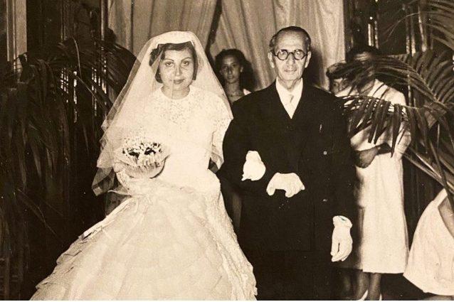 Vera Pentimalli, madre di Barbara D'Urso, nel giorno del suo matrimonio.