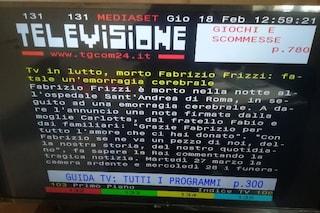 """""""È morto Fabrizio Frizzi"""", il televideo di Mediaset ripubblica la notizia per errore"""