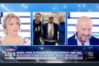"""Walter Zenga e l'incontro con i figli Andrea e Nicolò: """"Non li ho abbandonati"""""""