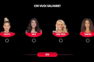 Chi è l'eliminata del GF Vip tra Carlotta, Giulia, Ruta e Samantha secondo i lettori di Fanpage.it