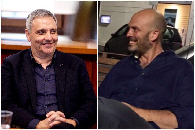 Lo scrittore Maurizio De Giovanni e lo sceneggiatore Fabrizio Cestaro