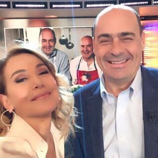 """Nicola Zingaretti difende Barbara D'Urso: """"La Tv ha bisogno di lei"""""""