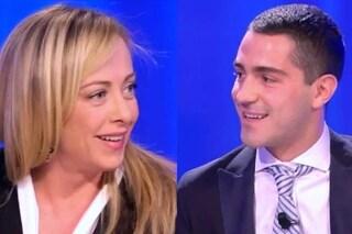 """Giorgia Meloni e la solidarietà a Tommaso Zorzi: """"Insultato solo per non essersi scontrato con me"""""""