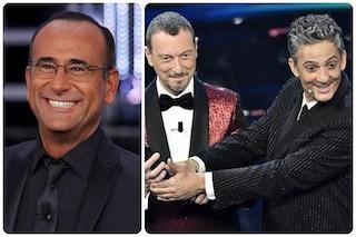"""Carlo Conti su Sanremo 2021: """"Amadeus e Fiorello stanno facendo un miracolo"""""""