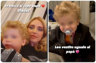 """Chiara Ferragni e Leone sostengono Fedez a Sanremo: """"In bocca al lupo papà"""""""