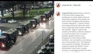 """Cristina Parodi ricorda il 18 marzo 2020 di Bergamo: """"Stavamo vivendo una tragedia"""""""