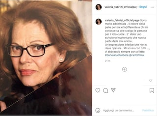 """Valeria Fabrizi si scusa dopo aver usato 'neg*a' in tv: """"Un'espressione infelice da non ripetere"""""""