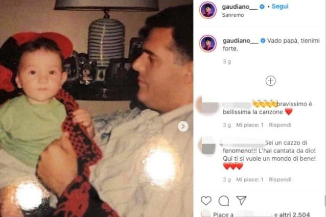 Il post di Gaudiano dedicato al padre