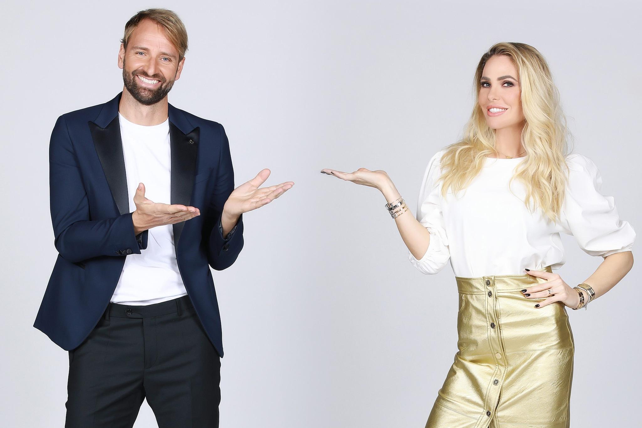 Massimiliano Rosolino e Ilary Blasi all'Isola dei famosi 2021