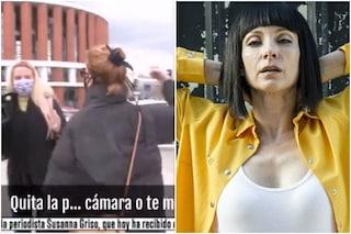 """Najwa Nimri aggredisce un gruppo di giornalisti, il video delle botte: """"Spegni la telecamera"""""""