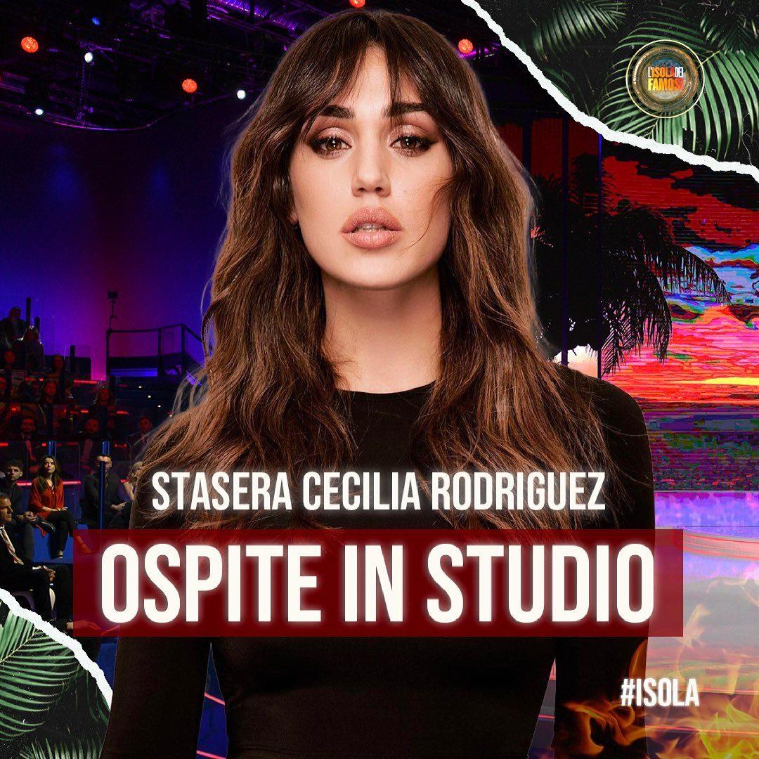 Cecilia Rodriguez ospite all'Isola