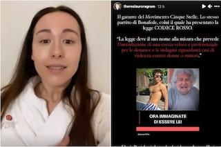 """Caso Grillo, parla Aurora Ramazzotti: """"Si può scegliere di parlare senza sminuire"""""""