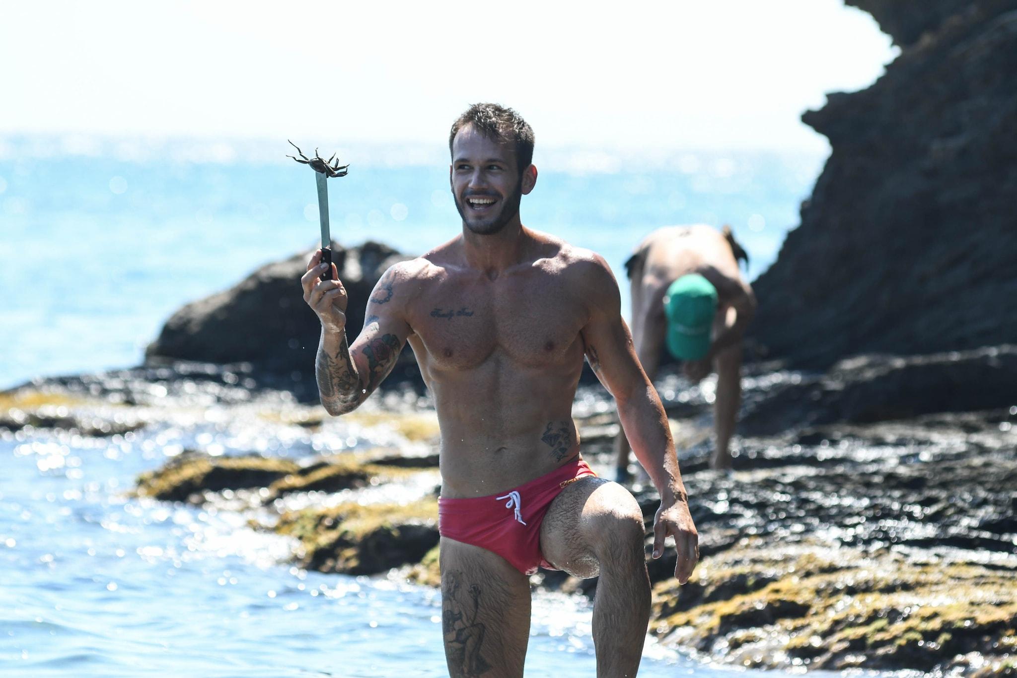 Matteo Diamante all'Isola (Foto IPA)