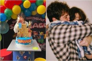Santiago e la festa di compleanno con Stefano De Martino, Belen è in viaggio con Antonino Spinalbese