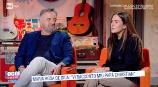 """Christian De Sica presenta sua figlia Maria Rosa: """"Canteremo insieme in tv"""""""