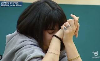 Amici20, Martina Miliddi in lacrime per l'ennesimo guanto di sfida lanciato da Alessandra Celentano