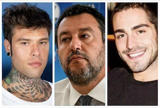 """Ddl Zan, Salvini scrive a Fedez e Tommaso Zorzi: """"Incontriamoci e parliamo"""""""