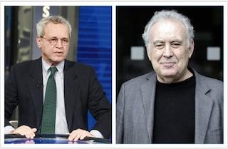 """Enrico Mentana chiama Michele Santoro a La7: """"Questa è casa tua, un microfono ti aspetta"""""""
