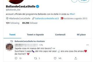 La Rai sporge denuncia dopo il retweet volgare sulla pagina di Ballando con le stelle