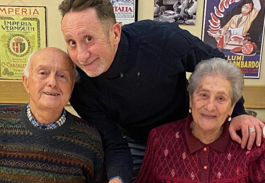Beppe Braida con i genitori Nando e Bruna