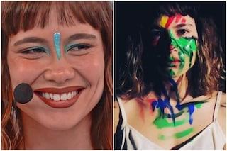 Perché Enula dipinge il suo corpo, la spiegazione della cantante di Amici 2021