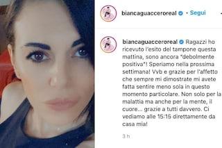 """Bianca Guaccero ancora positiva al Covid: """"Con il vostro affetto mi sento meno sola"""""""