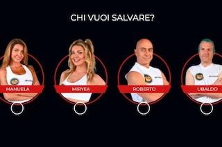 Isola dei Famosi 2021, i nominati della dodicesima puntata sono Manuela, Miryea, Roberto e Ubaldo
