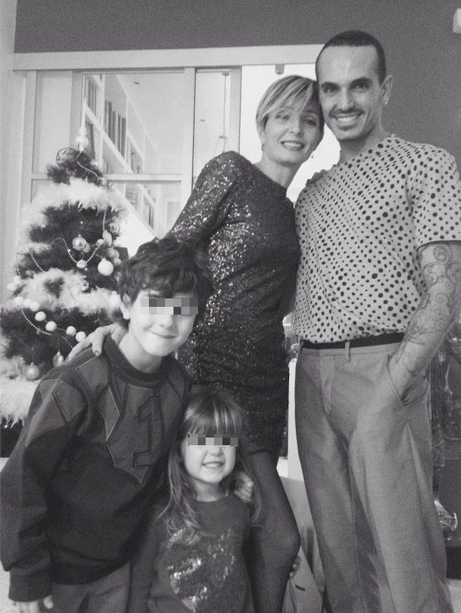 Veronica Peparini e Fabrizio Prolli con i figli Daniele e Olivia