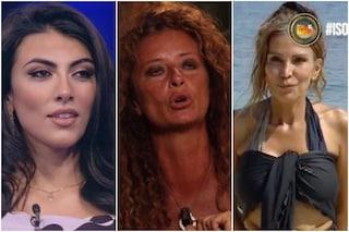 """Isola 2021, Giulia Salemi contro Valentina Persia che ha negato la mano a Fariba: """"Aggressiva"""""""