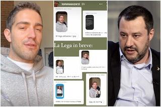 Tommaso Zorzi si scontra con Matteo Salvini, poi viene preso di mira dagli hater con insulti omofobi