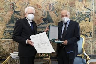 """Piero Angela nominato da Sergio Mattarella """"Cavaliere di Gran Croce al Merito della Repubblica"""""""