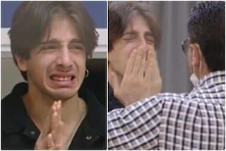 """Amici 2021, Alessandro incontra il padre e scoppia in lacrime: """"Ti amo così come sei"""""""
