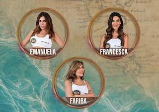 Isola dei Famosi: Emanuela Tittocchia, Fariba Tehrani e Francesca Lodo in nomination