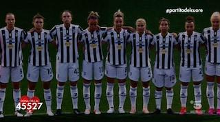 Alla Partita del Cuore c'è la Juventus femminile in campo ma non Aurora Leone