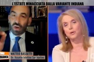 """Boralevi a Bassetti: """"Poco in corsia perché è sempre in tv"""" e lui la insulta, il video dello scontro"""