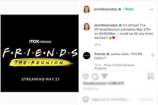 Friends Reunion ha una data ufficiale, l'annuncio di Jennifer Aniston