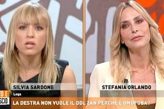 """""""Con Ddl Zan fiabe gay e insegnanti trans"""" e Stefania Orlando replica in tv alla leghista Sardone"""