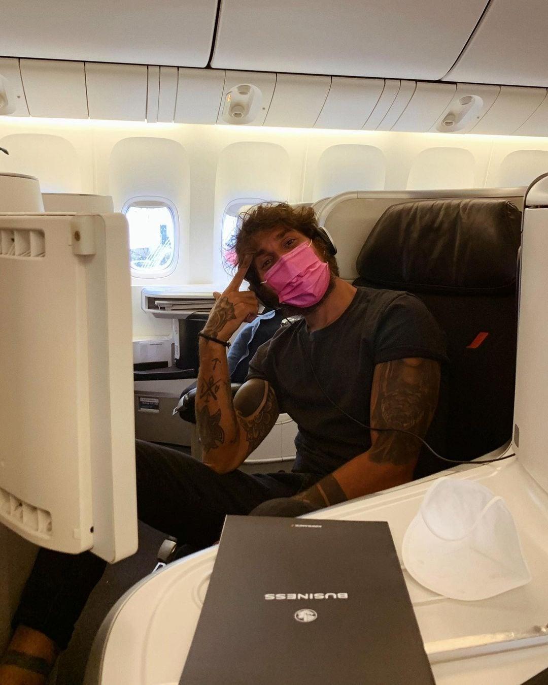 Andrea Cerioli in volo verso l'Italia