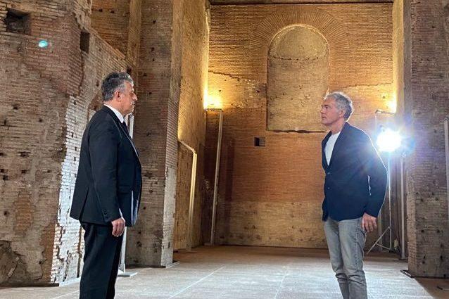 Giletti con Nino Di Matteo