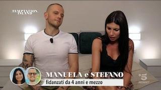 """Temptation Island, Manuela e Stefano litigano ancora prima di sbarcare: """"Mi vergogno, sono cornuta"""""""