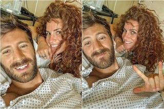 Nicolò De Devitiis in ospedale per un'operazione, con lui anche la fidanzata Veronica Ruggeri