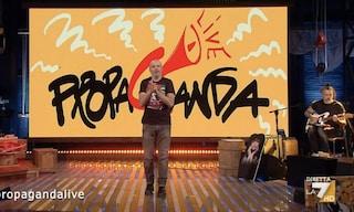 Roberto Angelini è tornato in studio nell'ultima puntata di Propaganda Live