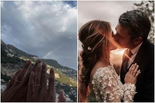 """Luca Argentero e Cristina Marino dopo le nozze fuggono in Costiera Amalfitana: """"Magia"""""""