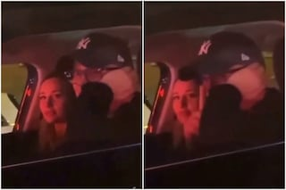 """Gigi D'Alessio furtivo con Denise Esposito nel video in macchina, ai fan: """"Zitti, zitti"""""""