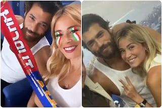Italia - Turchia divide Can Yaman e Diletta Leotta, la coppia allo stadio durante Euro 2020