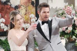 Beautiful, anticipazioni dal 7 al 12 giugno: Hope e Liam si sposano, Thomas è disperato