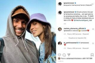"""Ignazio Moser e Cecilia Rodriguez rientrano in Italia insieme: """"La sorpresa più bella che ci sia"""""""