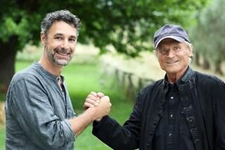 La prima e unica foto di Raoul Bova e Terence Hill sul set di Don Matteo 13